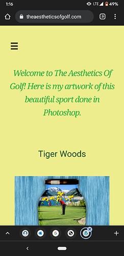 Golf Beaver Builder Mobile Screenshot